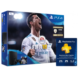 Konsola PS4 1TB Slim + Gra Fifa 18 PL + PS Plus 14 dni