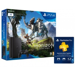 Konsola PS4 1TB Slim + Gra Horizon Zero Dawn + PS Plus 90 dni