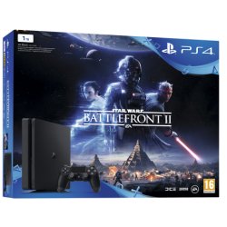 Konsola PS4 1TB Slim + Gra Star War Battlefront II + PS Plus 14 dni