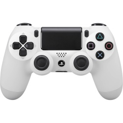 Kontroler DUALSHOCK 4 biały V2 - dualshock 4, dualshock, konsola playstation, playstation konsola, playstation 4, konsola playstation 4, playstation 4 pro