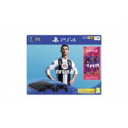 Konsola SONY PlayStation 4 1TB + Gra Fifa 19 + DS4 - playstation 4, gra ps4, konsola playstation 4, playstation konsola, konsola ps4, gry ps4, gry playstation