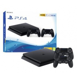 Konsola PS4 500GB Slim Czarna - ps4 slim 500gb, dualshock 4, dualshock, konsola ps4 slim, playstation 4 slim