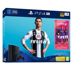 KONSOLA PS4 PRO 1TB FIFA 19 - konsola ps4 pro, playstation 4 pro, gra ps4, konsola playstation, gry na playstation, gry playstat