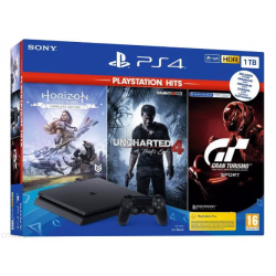 KONSOLA PS4 1TB GT SPORT+HZD+UNCHARTED4